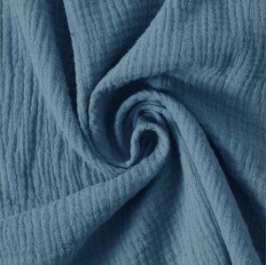 Musselin jeansblau